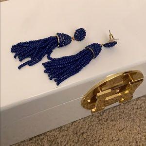Beaded Tassel and Gold Earrings